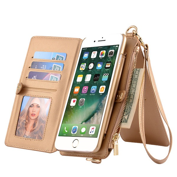 Lyxig Mobilplånbok för Iphone 7 Plus/8 Plus