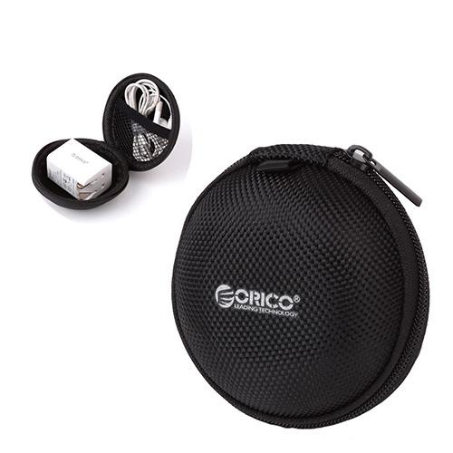 Svart Väska för Hörlurar och Headset – Orico Zipper Bag