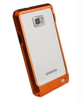 Samsung Galaxy S2 Aluminium-Bumper (Orange)
