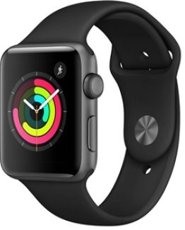 Apple Watch Series 3 GPS, 42mm Space Grey/Svart