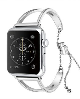 Armband Metall V till Apple Watch 38mm -Silver