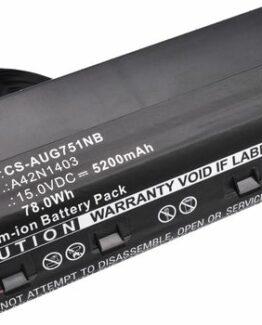 Asus ROG GFX71JY, 15.0V, 5200 mAh