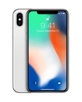 Begagnad iPhone X 64GB Silver Olåst i Toppskick Klass A