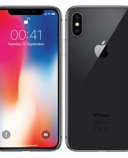 Begagnad iPhone X 64GB Svart Olåst i Perfekt skick Klass A+