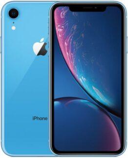 Begagnad iPhone XR 64GB Blå Olåst i bra skick Klass B