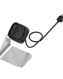 Hållare med laddningsfunktion till Fitbit Versa / Versa Lite / Versa SE