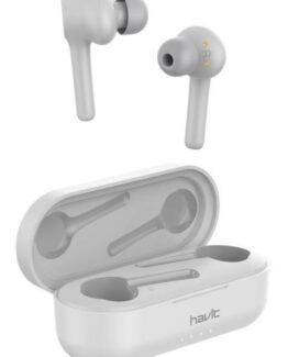 Havit bluetooth äkta trådlösa hörlurar (vit)