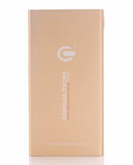 Powerbank 10000 mAh 2 USB-portar Snabbladdare - Gold