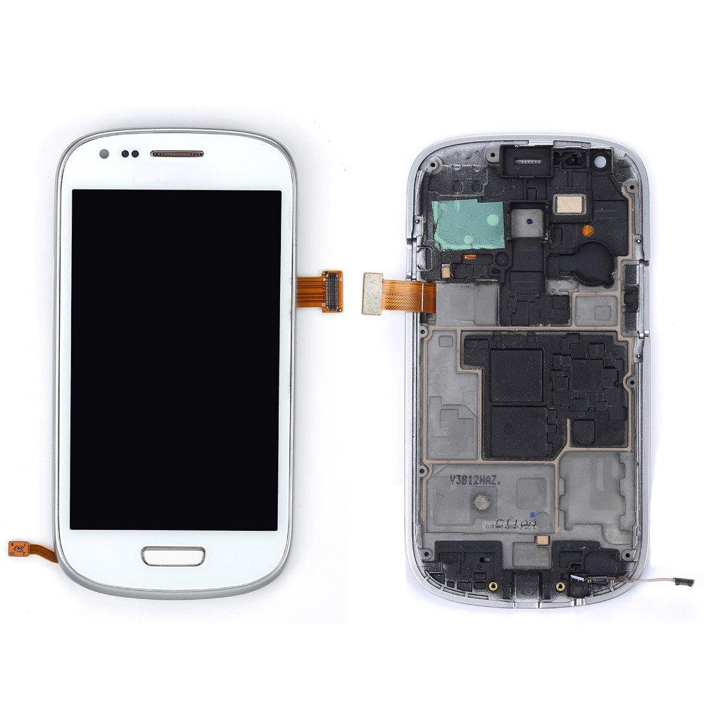 Samsung Galaxy S3 Mini i8190 LCD med Ram & Digitizer - Vit