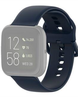 Silikonarmband Fitbit Versa 2 / Versa / Versa Lite 18mm - Mörkblå