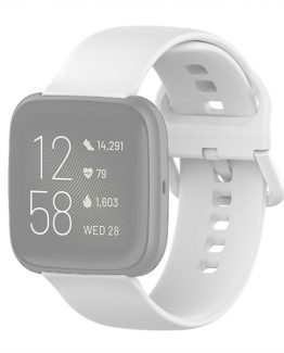 Silikonarmband Fitbit Versa 2 / Versa / Versa Lite 22mm - Vit