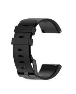 Silikonband till Fitbit Versa / Versa 2 / Versa Lite - Svart S