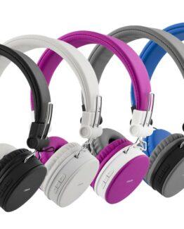 Streetz Bluetooth-hörlur med mikrofon (Vit)
