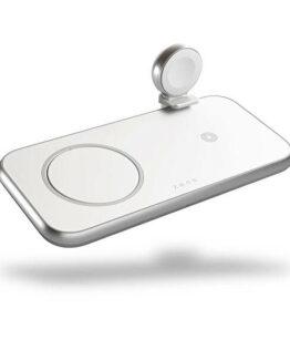 ZENS 4in1 Laddare Designad för Magsafe 10W + Plats för Magsafe + USB-A + Apple Watch