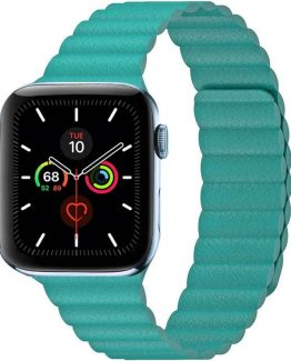 Apple Watch 5 (44mm) Leather loop band - Mint