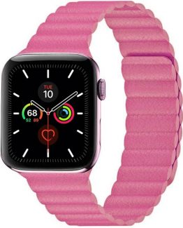 Apple Watch 5 (44mm) Leather loop band - Rosa