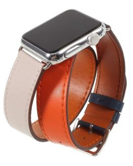 Apple Watch Series 4 44mm genuine leather watch band - Orang