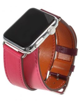 Apple Watch Series 4 44mm genuine leather watch band - Rose