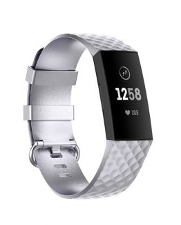 Armband Fitbit Charge4 / Charge3 L Silver